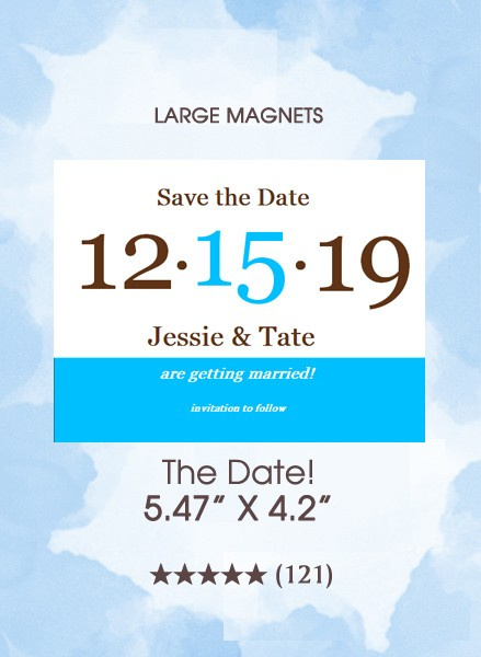 The Date! Save the Date Magnets