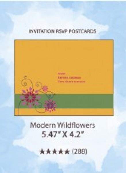 Modern Wildflowers - RSVP Postcards
