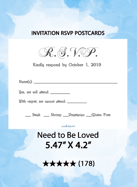 Need To Be Loved - RSVP Postcards