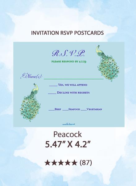 Peacock - RSVP Postcards