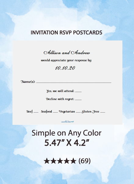 Simple on Any Color - RSVP Postcards