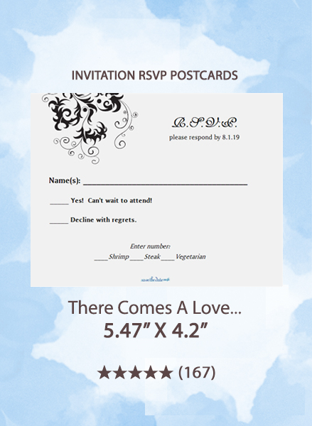 There Comes A Love... - RSVP Postcards
