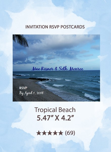 Tropical Beach - RSVP Postcards