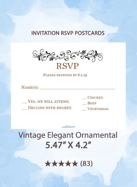 Vintage Elegant Ornamental - RSVP Postcards