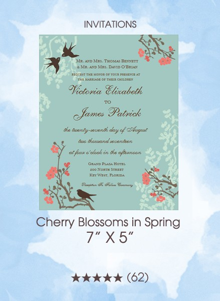 Invitations - Cherry Blossoms in Spring