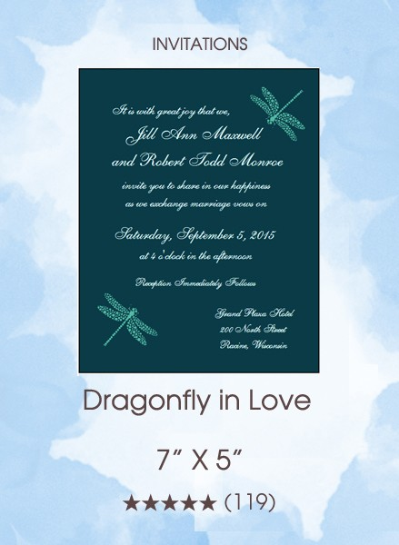 Dragonfly in Love Invitations