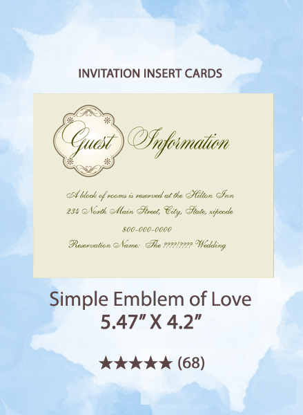 Simple Emblem of Love - Insert Cards