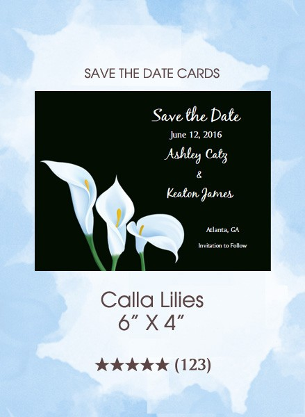 Calla Lilies Save the Date Cards