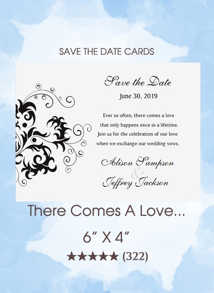 There Comes A Love...Save the Date Cards