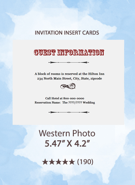 Western Photo - Insert Cards