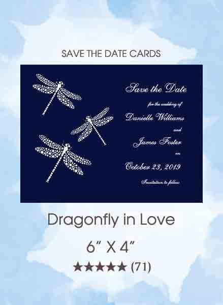 Dragonfly in Love Cards