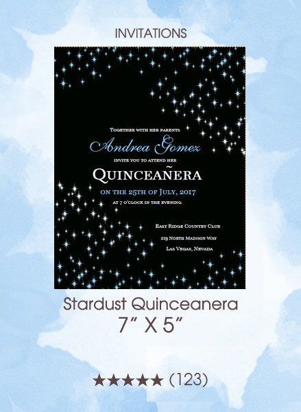 Stardust Quinceanera - Invitations