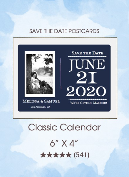 Classic Calendar Postcard