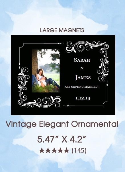 Vintage Elegant Ornamental Large Magnets