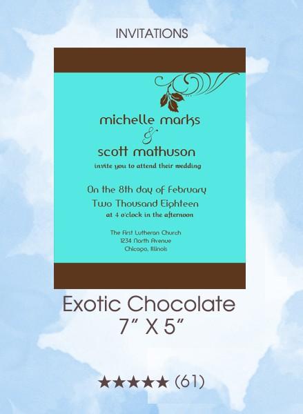 Invitations - Exotic Chocolate