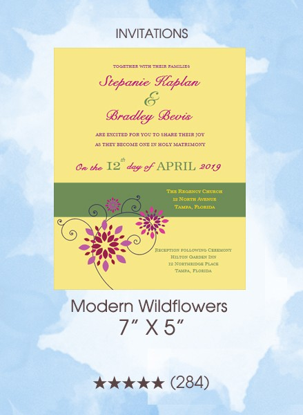Invitations - Modern Wildflowers
