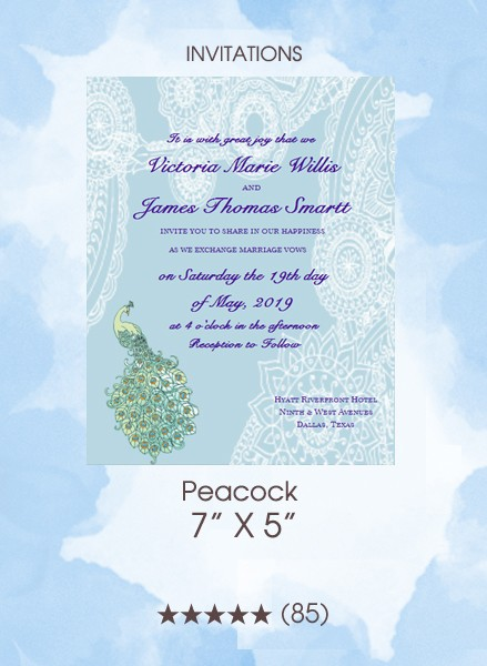 Invitations - Peacock