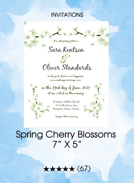Invitations - Spring Cherry Blossoms