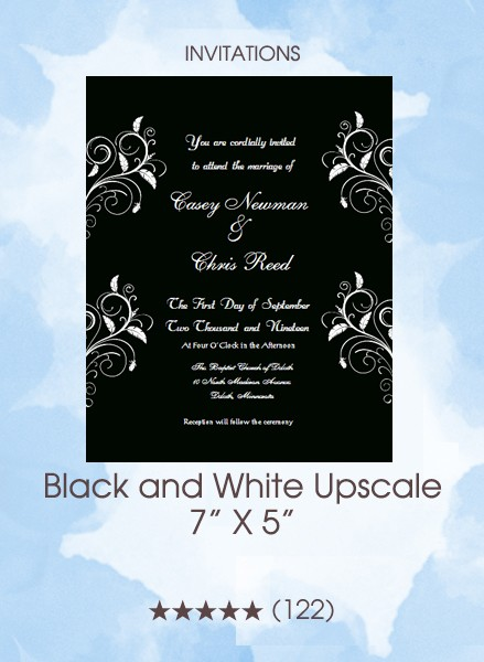 Invitations - Black and White Upscale