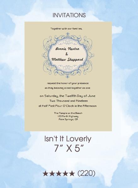 Invitations - Isn't It Loverly
