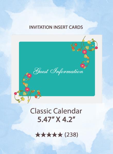 Classic Calendar - Insert Cards