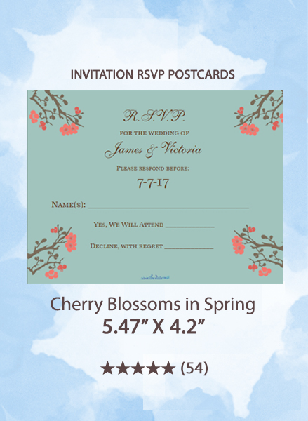 Cherry Blossoms in Spring - RSVP Postcards