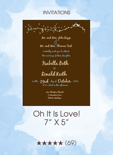 Oh It Is Love! Invitations