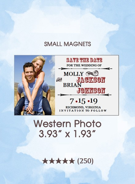 Western Photo, Too Save the Date Small Magnet