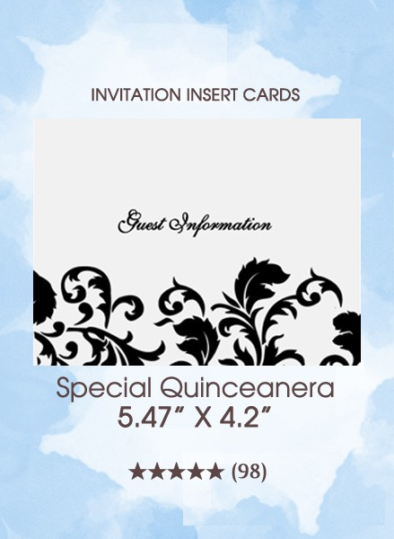Special Quinceanera - The Insert Cards