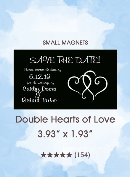 Double Hearts of Love Small Magnet