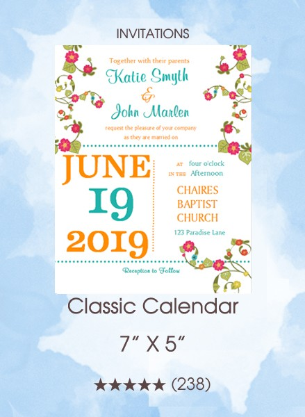 Invitations - Classic Calendar