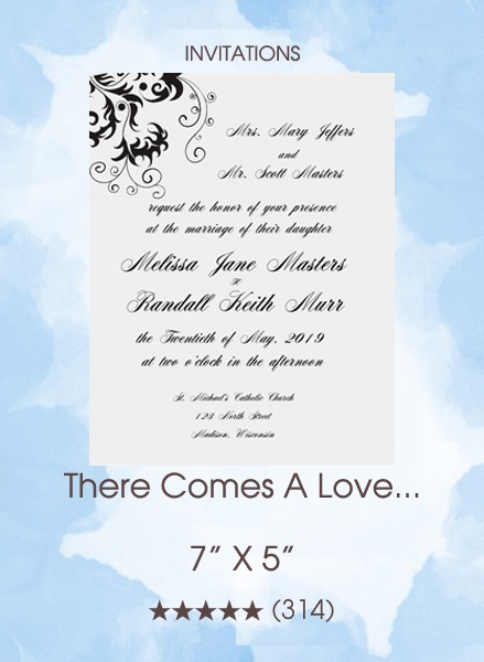 There Comes A Love... Invitations