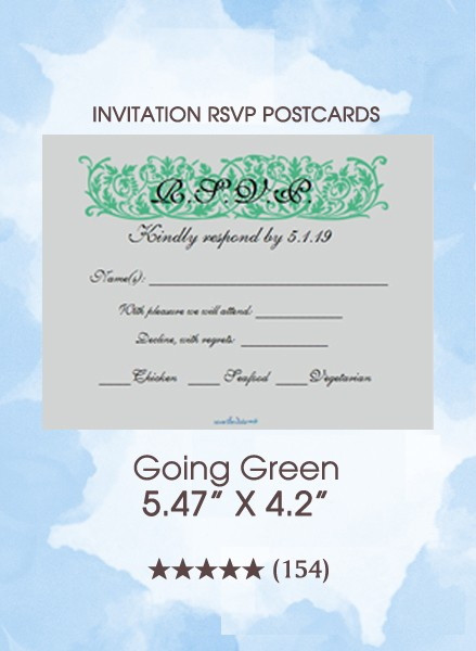 Going Green - RSVP Postcards