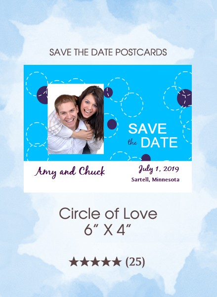 Circle of Love Save the Date Postcards