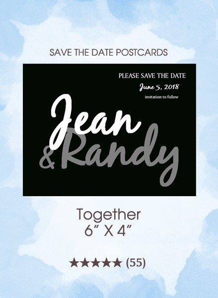 Together Save the Date Postcards