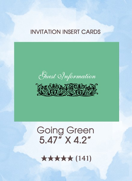 Going Green - Insert Cards