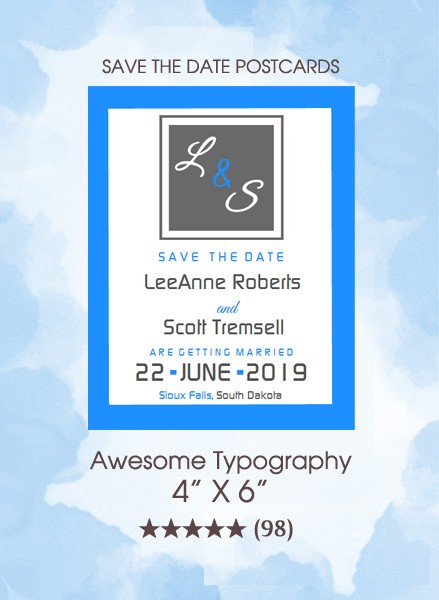 Save the Dates - Awesome Typography