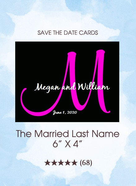 The Married Last Name Monogram Save the Date Cards
