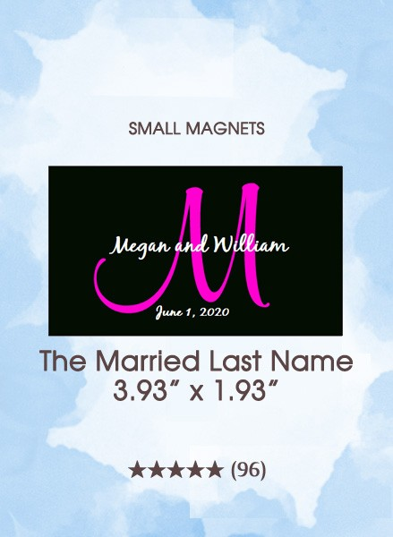 The Married Last Name Monogram, Too Save the Date Small Magnets