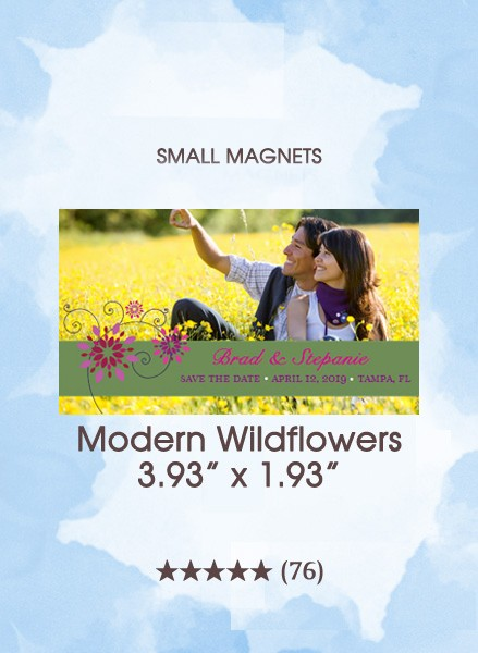 Modern Wildflowers, Too Save the Date Small Magnets
