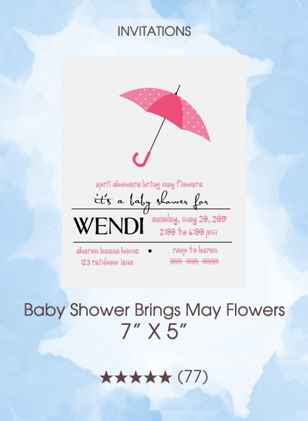 Invitations - Baby Shower Brings May Flowers