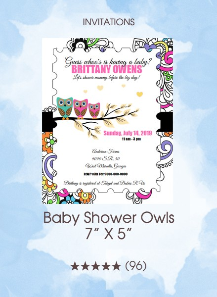 Invitations - Baby Shower Owls
