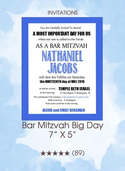 Invitations - Bar Mitzvah Big Day