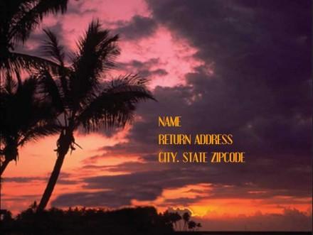 BeachIsland - RSVP Postcard