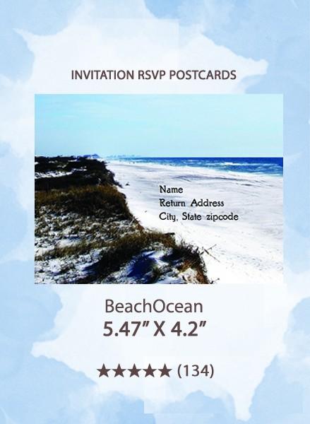BeachOcean - RSVP Postcards
