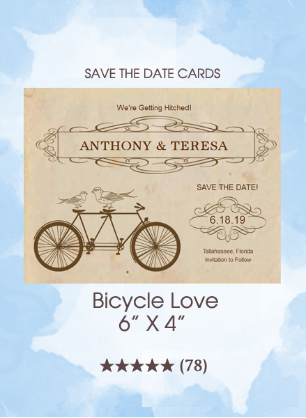 Save the Dates - Bicycle Love
