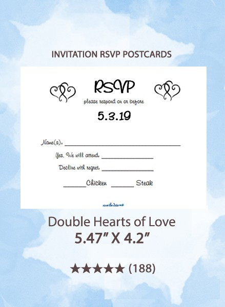 Double Hearts of Love - RSVP Postcards