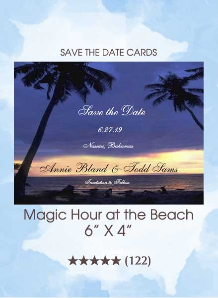 Save the Dates - Magic Hour at the Beach