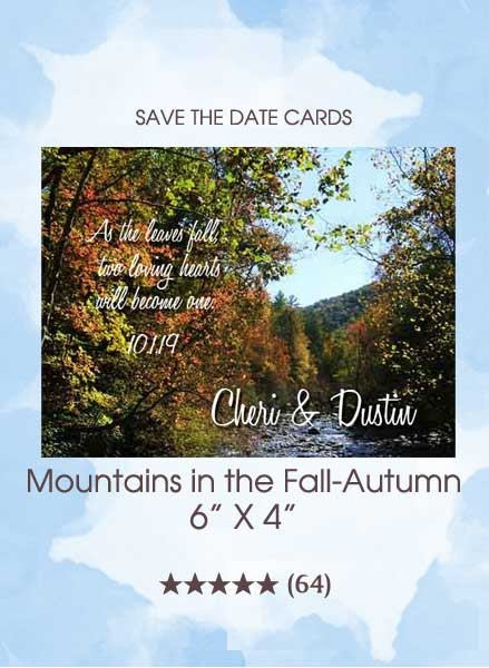 Save the Dates - Mountains in the Fall-Autumn