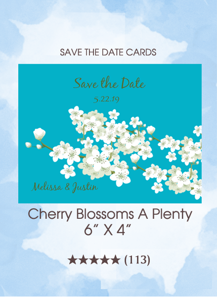 Save the Dates - Cherry Blossoms A Plenty Cards